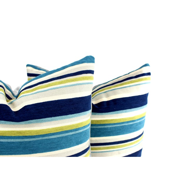 Custom made from vintage Italian silk designer fabric on face and backed by silver-gray velvet, this pillow pair have...