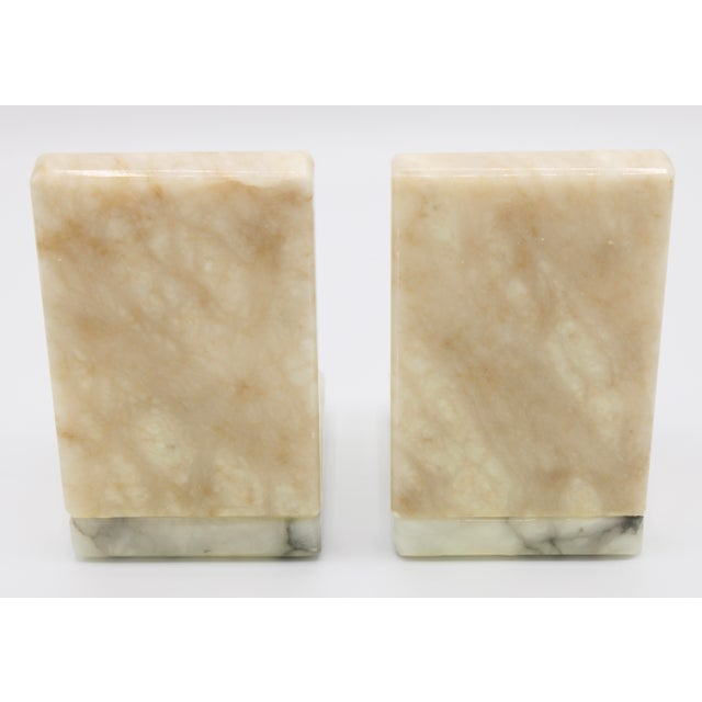 Mid 20th Century Mid Century Italian Alabaster Baseball Bookends For Sale - Image 5 of 10