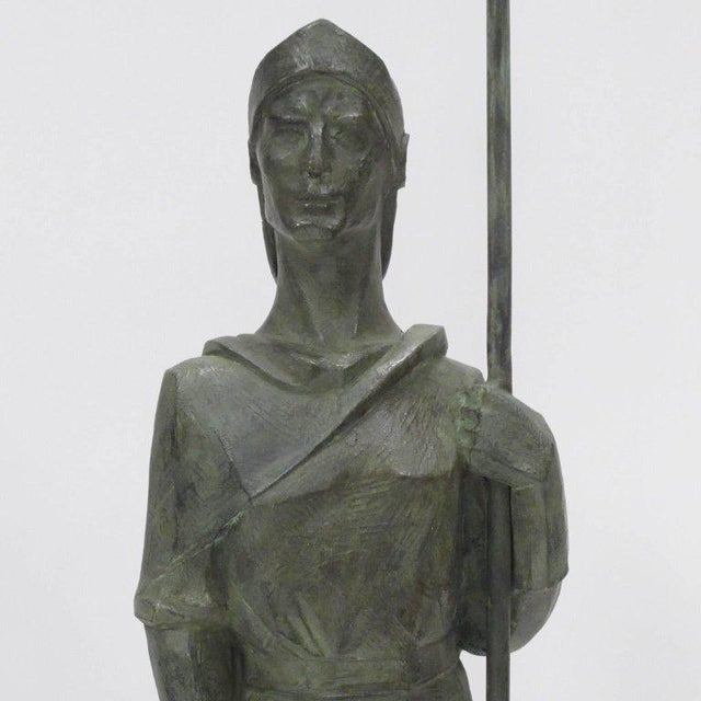 French Life-Size Bronze Statues Sculpture Middle Ages Knight in Armor, a Pair - Image 7 of 11