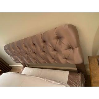 Hollywood Regency Silk Upholstered Headboard Preview