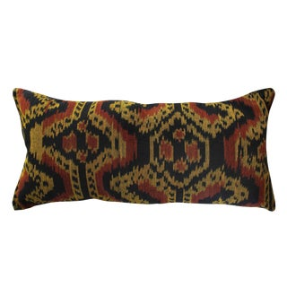"Handwoven Decorative Lumbar Pillow ""Java Tribe"" For Sale"
