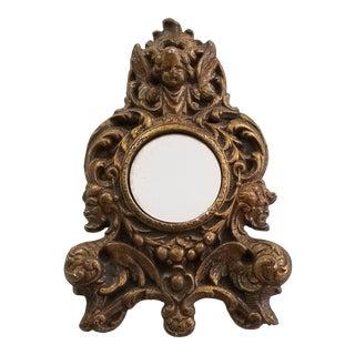 Jaru Gothic Cherub Chalkware Mirror For Sale