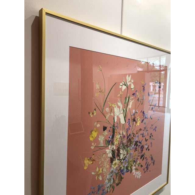 Pink Meadow Floral Collage by Marcy Cook, Framed For Sale - Image 8 of 9