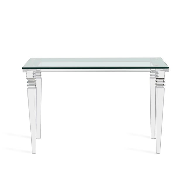 The classical lines of the Savannah Desk get a fresh, modern update when they're realized fabulously in acrylic and glass....