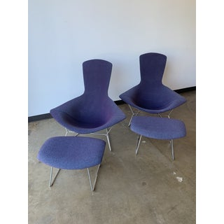 Knoll Bertoia Bird Chair and Ottoman Pair - 4 Pieces Preview