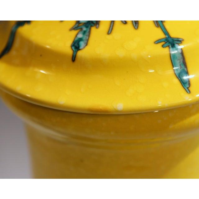 Vintage Italian Mancioli Pottery Yellow Covered Raymor Jar For Sale - Image 9 of 11