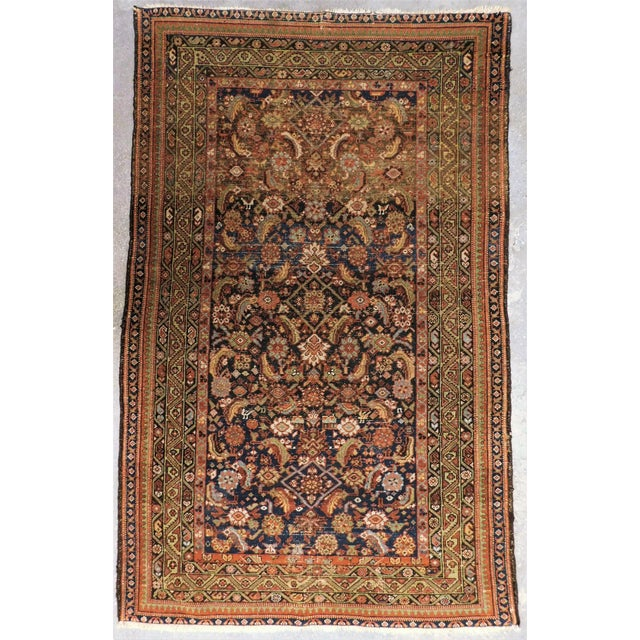 1900 Antique Persian Fereghan Rug For Sale - Image 13 of 13