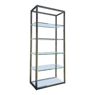 1970s Mid-Century Modern Hollis Jones and Leon Rosen Aluminum and Lucite Frame and Shelves Unit For Sale