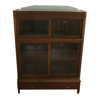 Danner Mission Oak Style Barrister Bookcase For Sale