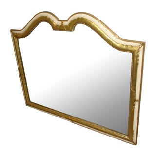 Mid-Century Hollywood Regency Wall Mirror Large For Sale
