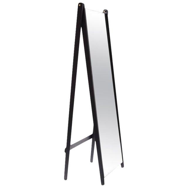 Asa Pingree Libertine Full Length Mirror in Ebonized Oak For Sale