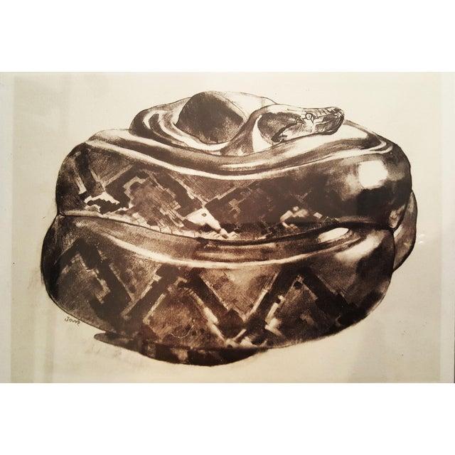 Snake sketch from peinture dessins de paul jouve - Peinture effet serpent ...