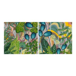 "Alex K. Mason ""In Flux Diptych"" Painting on Canvas - a Pair For Sale"