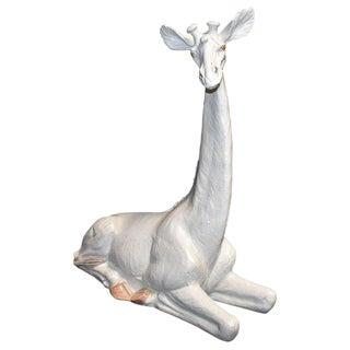 1970s Italian Terracotta Giraffe Sculpture For Sale