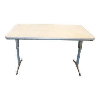 1960s Industrial American Seating Corporation Library Writing Desk For Sale