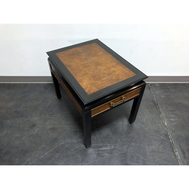 esigned by Raymond K Sobota for Century Furniture in the 1970s. Made in North Carolina, USA. Burl Maple, black lacquer,...