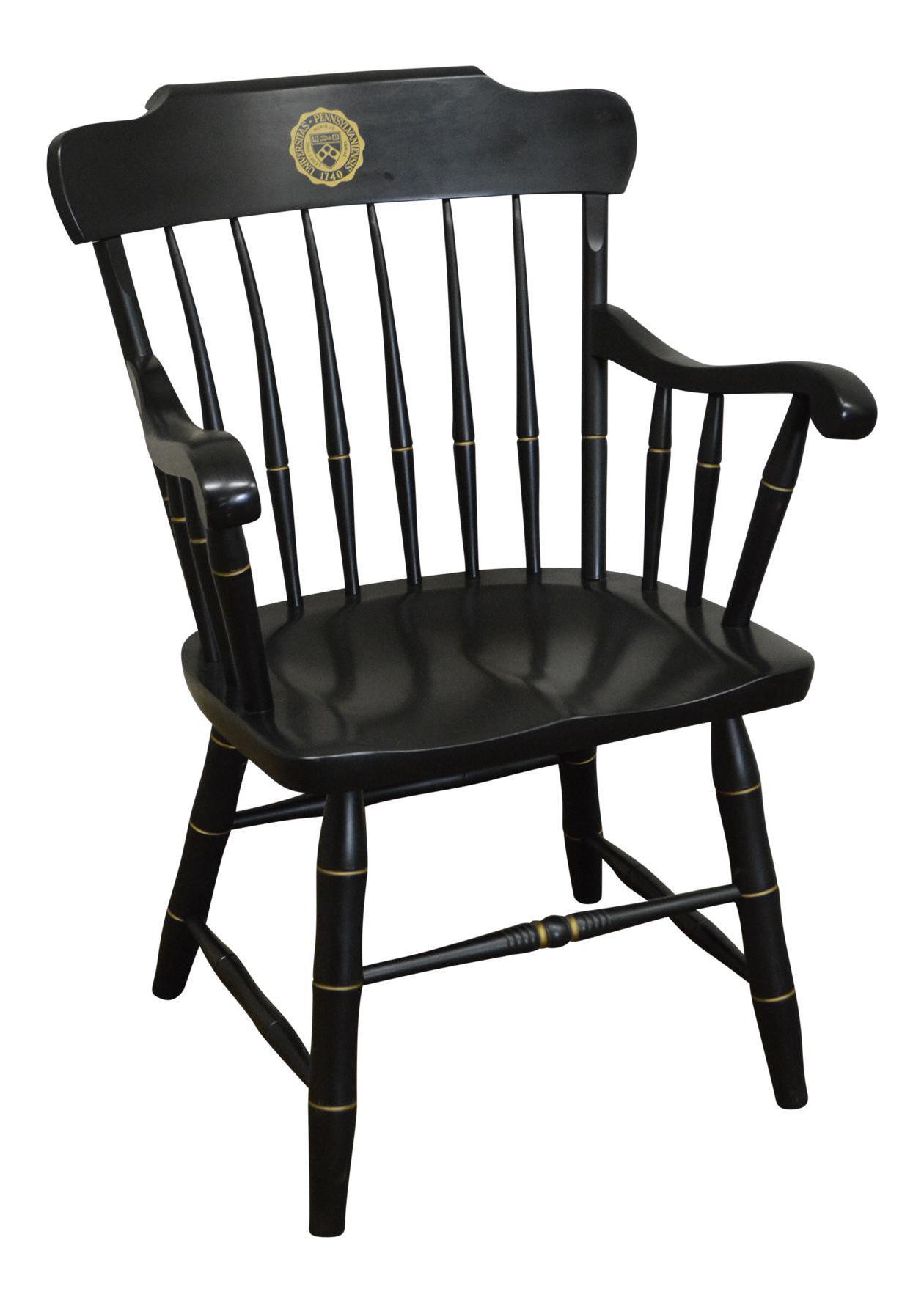 University Of Pennsylvania Black Windsor Arm Chair