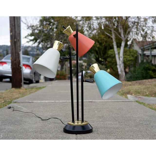 Mid-Century Modern Enamel Table Lamp For Sale - Image 10 of 10