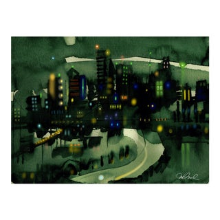 Premium Giclee Print Of Seattle the Emerald City For Sale