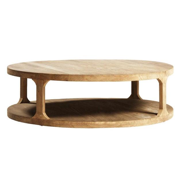 Reclaimed Elm Wood Coffee Table - Image 2 of 3