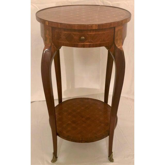 Antique Exceptional Inlaid Parquetry Table, Circa 1860-1870.
