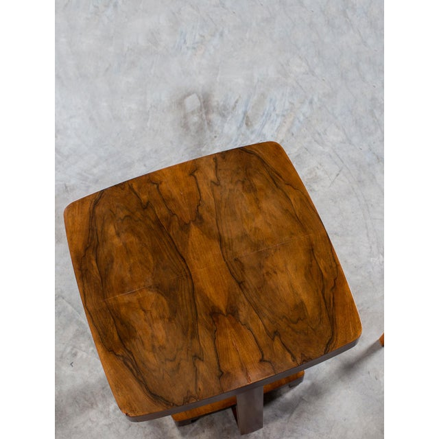Art Deco Vintage French Walnut Table circa 1930 For Sale - Image 4 of 9