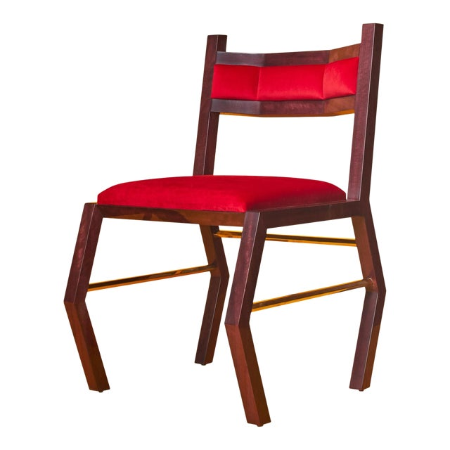 Red Hex Chair by Artist Troy Smith - Contemporary Design - Artist Proof - Custom Furniture For Sale - Image 8 of 9