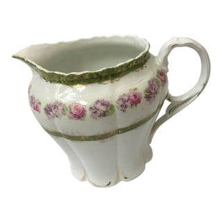 Vintage Floral Porcelain Pitcher