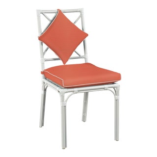 Haven Outdoor Dining Chair, Melon and Blush For Sale