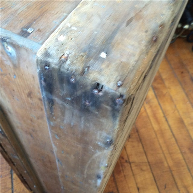 Rustic Pine Wood Sea Chest - Image 9 of 11
