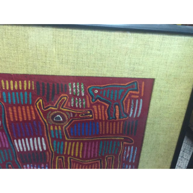 Panama Textile Art Ethnographic Mola a Pair Kuna For Sale In San Francisco - Image 6 of 7