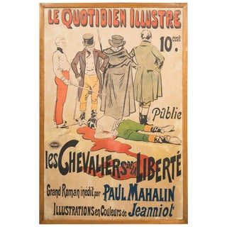 Vintage 1920 Poster 'Les Quotidien Illustre/Chevaliers De La Liberte' For Sale