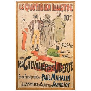 Vintage 1920 Poster 'Les Quotidien Illustre/Chevaliers De La Liberte' For Sale