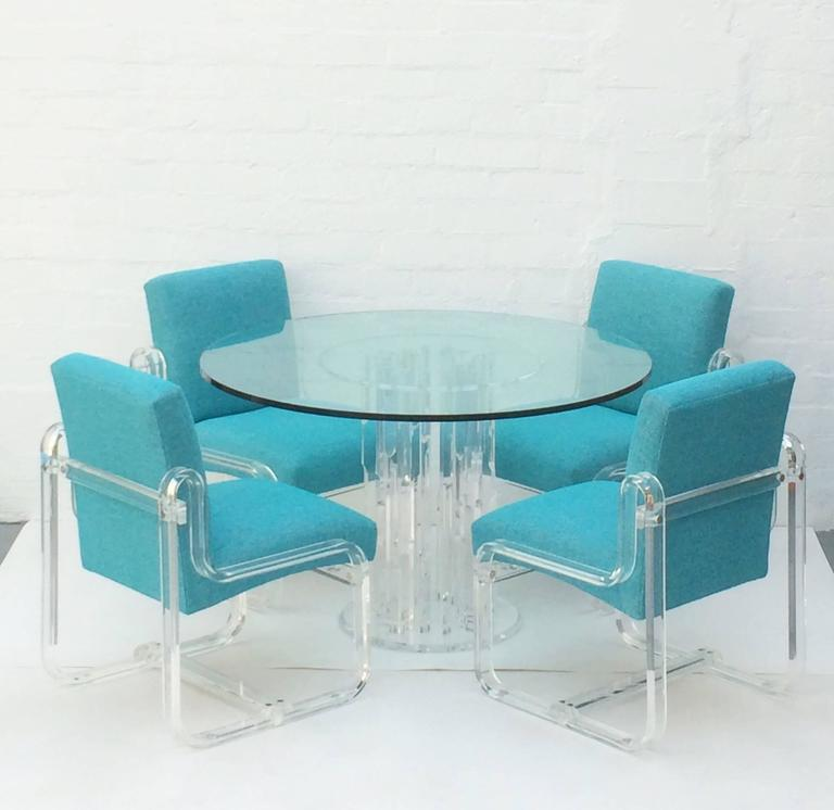 Acrylic Dining Chairs By Vivid   Set Of 4   Image 10 Of 10