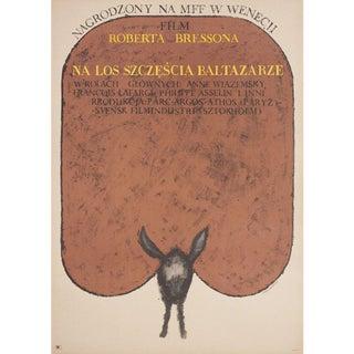 Au Hasard Balthazar 1966 Polish A1 Film Poster For Sale