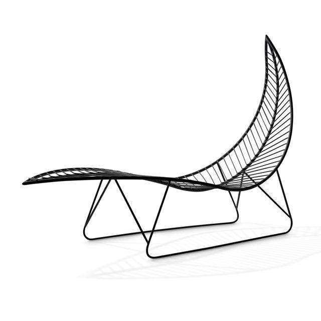 Coastal Leaf Lounger - Black For Sale - Image 3 of 3