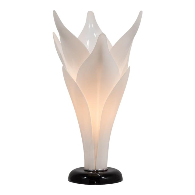 Tulip Lamp Attributed to Rougier Late 1970s For Sale