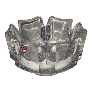 Orrefors Decorative Crystal Bowl For Sale
