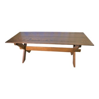 Country Handcrafted Douglas Fir Farm Table For Sale