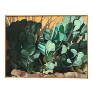 Bonnie Zak Succulent Oil Painting on Canvas