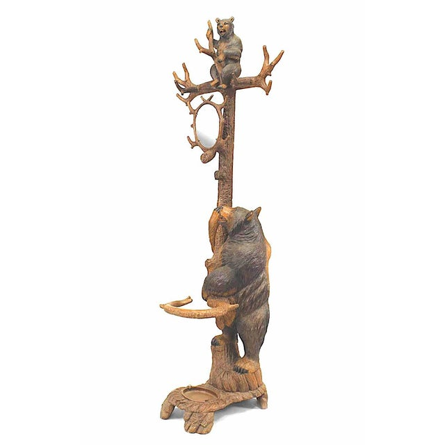 Rustic Black Forest '19th Century' Walnut Hat Rack or Umbrella Stand For Sale - Image 12 of 12