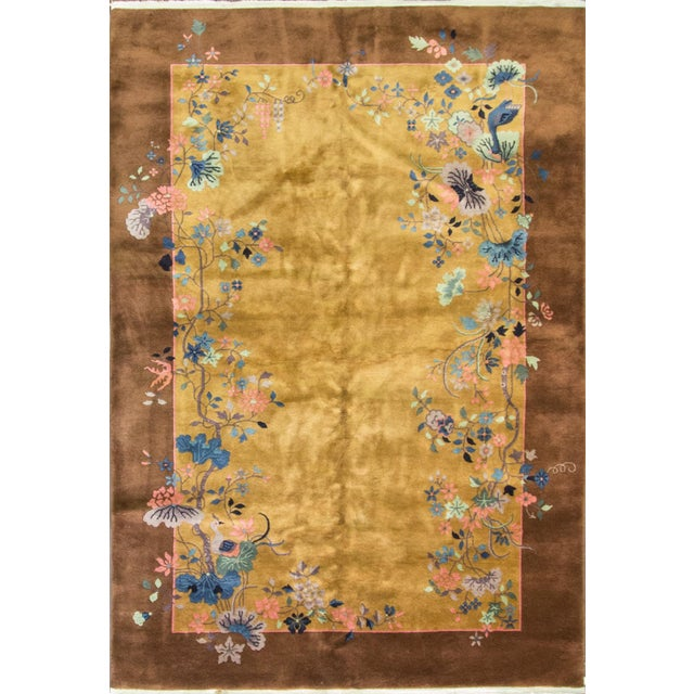 "Chinese Art Deco Rug-5'10"" X 8'5"" For Sale - Image 9 of 9"