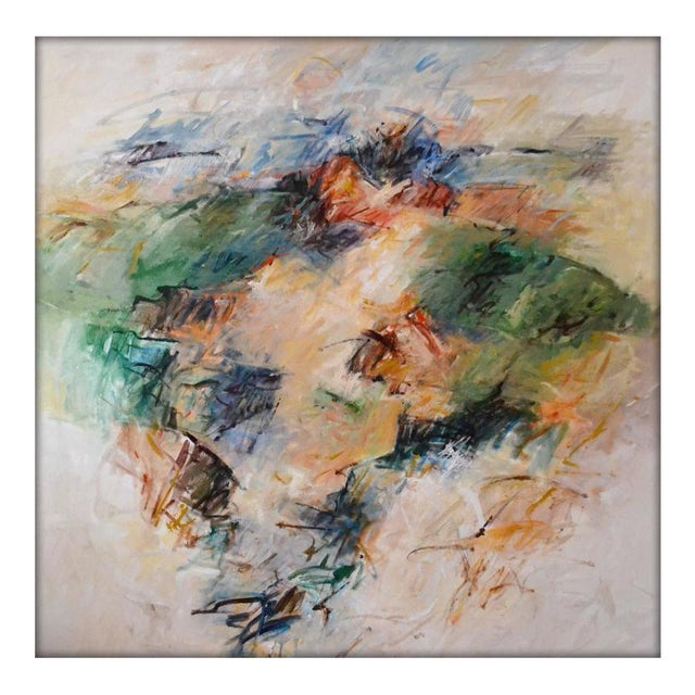 """Contemporary Abstract Acrylic Painting """"To Live a Dream"""" by Mary Lou Siefker For Sale"""