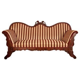 Biedermeier Mahogany Sofa, circa 1860 For Sale