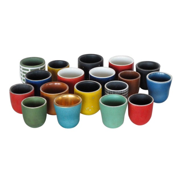 Collection of Waylande Gregory Cups - Set of 18 For Sale