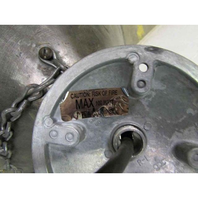 Industrial Steel Oversized Pendant Light For Sale - Image 4 of 5