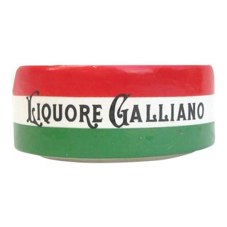 Vintage Italian Liqueur Bistro Ashtray For Sale