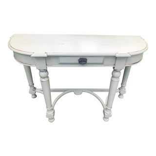 Indian Painted Mahogany Console Table or Writing Desk For Sale