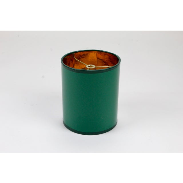 High Gloss Drum Lamp Shade Made To Order: 1-2 week lead time Individually hand-made Exterior Color: Dark Green Interior...
