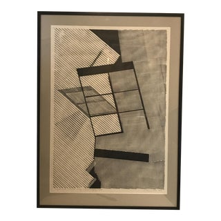 1980 Geometric Modern Lithograph For Sale
